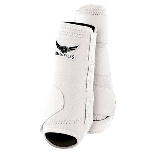 New Relentless All Around Sports Boots Horse Front Large White