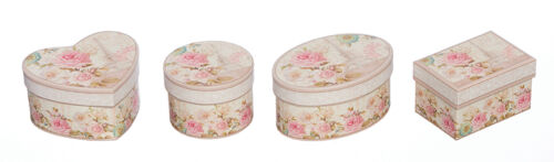 Heart//Circular//Oval//Rectangular Small Parisian Pink Floral Luxury Gift Box