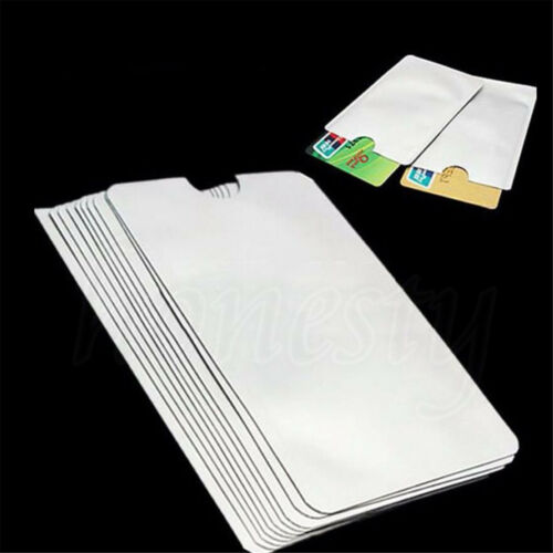 10//20//40pcs RFID Passport Credit Card Holder Protector Blocking Shield Bag