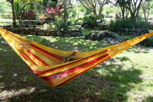 Rete messicano Amaca 1300g Maya interamente a mano cotone | da commercio equo Per il giardino