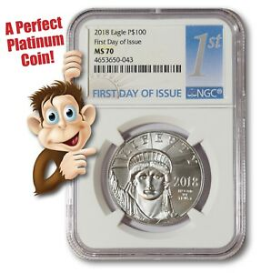 2018-Platinum-100-Statue-of-Liberty-NGC-MS70-First-Day-Issue-NO-RESERVE