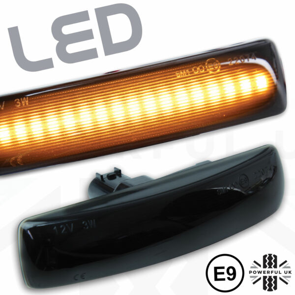 2x Led Smoked Side Repeater Flasher Wing Indicator Fit Discovery 3/4 Lamp Lights Wil Je Wat Chinese Inheemse Producten Kopen?