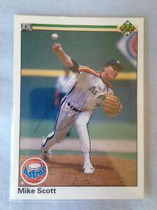 Details About 1990 Upper Deck Mike Scott Autographed Houston Astros Baseball Card 125