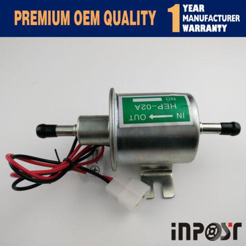 12V Electric Fuel Pump New Sliver HEP-02A Gas Diesel Inline Low Pressure