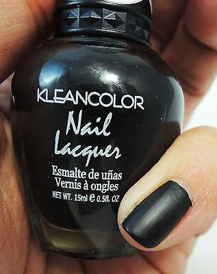 Kleancolor #265 MATTE BLACK NAIL POLISH, MATTE BLACK NAIL LACQUER *US SELLER*