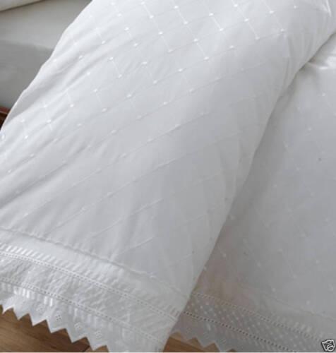 Conjunto de edredón doble de Balmoral Blanco edredón cubierta y 2 fundas de almohada
