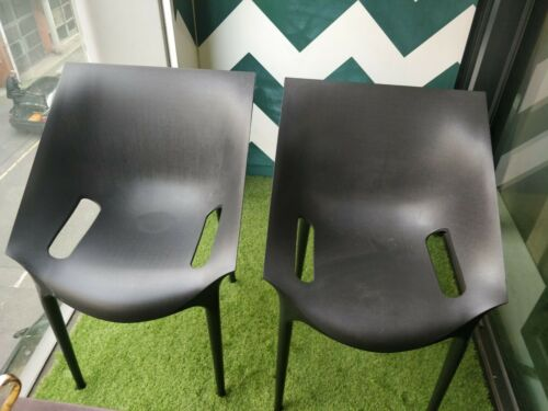 2 x Philippe Starck Kartell Dr. Yes Black Chairs
