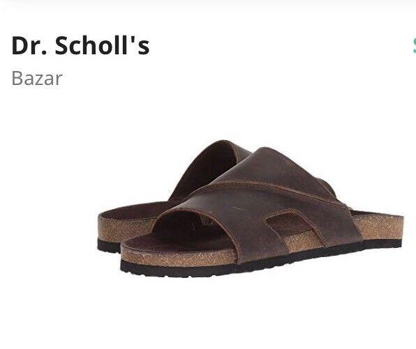 37057df8d3f7f3 Dr. Scholl s Gordon Men US 10 Brown Slides Sandal Blemish 19345 for sale  online