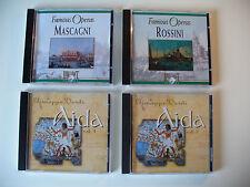 """Albumkonv. """"Verdi - Aida 1/2 und Famous Operas 3/4"""", 4 Alben, CD (Kon. Nr.795)"""