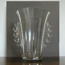 """LUXVAL VASE """" CRIQUET """" VAL ST LAMBERT ART DECO 1935 BELGIAN GLASS"""