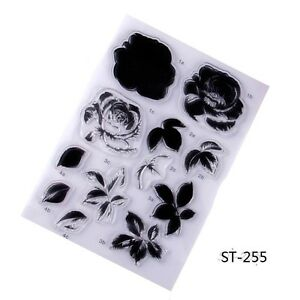 Set of Flowers Clear Stamp for DIY Decorative Scrapbooking Photo Album Gift Card
