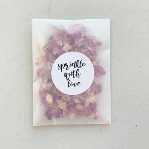 10 Pink Rose Petal Packets Natural Dried Biodegradable Wedding Eco Confetti
