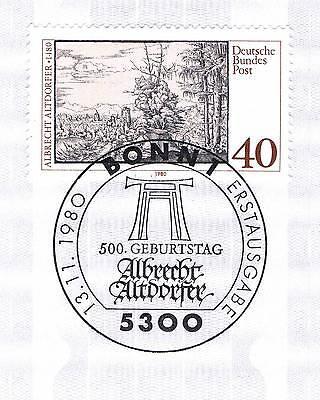 Brd 1980: Albrecht Altdorfer! Nr. 1067 Mit Bonner Ersttags-sonderstempel! 1a 154