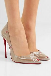 Christian-Louboutin-So-Kate-120-Loubi-Kraft-Logo-Crinkled-Paper-PVC-Pumps-37-5