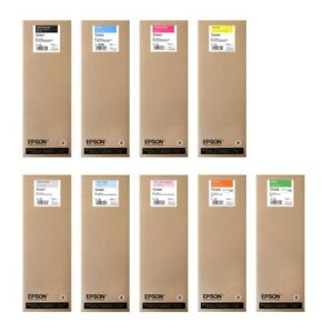 9-Original-Ink-Epson-Stylus-pro-WT7900-7900-9900-T5961-T5966-Ink-Cartridges