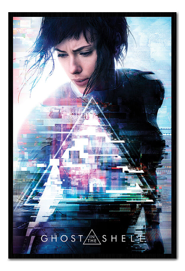 Ghost In The Shell One Sheet Poster Framed Cork Pin Board With Pins