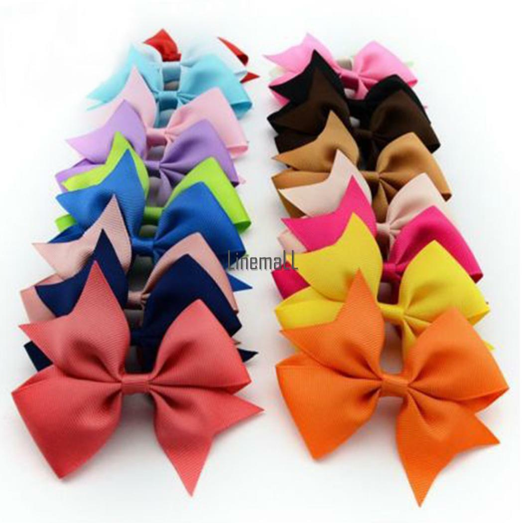 10PCS Hair Bows Band Boutique Alligator Clip Grosgrain Ribbo