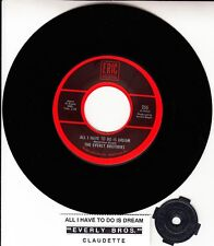 """THE EVERLY BROTHERS  All I Have To Do Is Dream 7"""" 45 record NEW + juke box strip"""