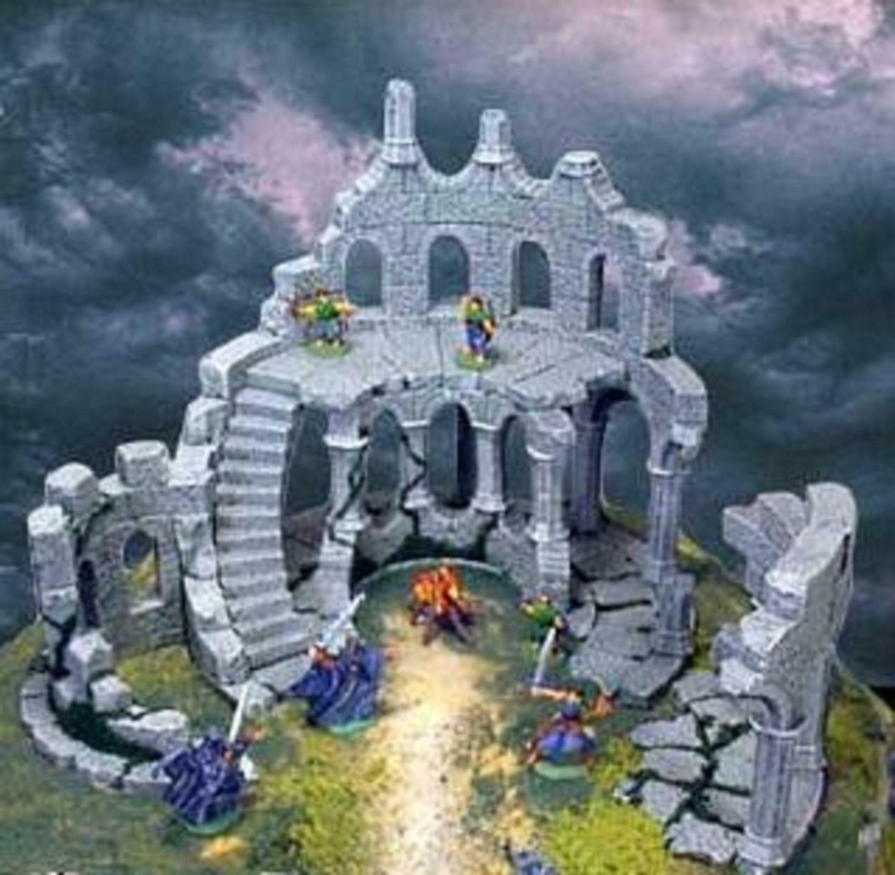 Wargame Scenery D&D Warhammer 25mm - Ruined Tower (Gothic)