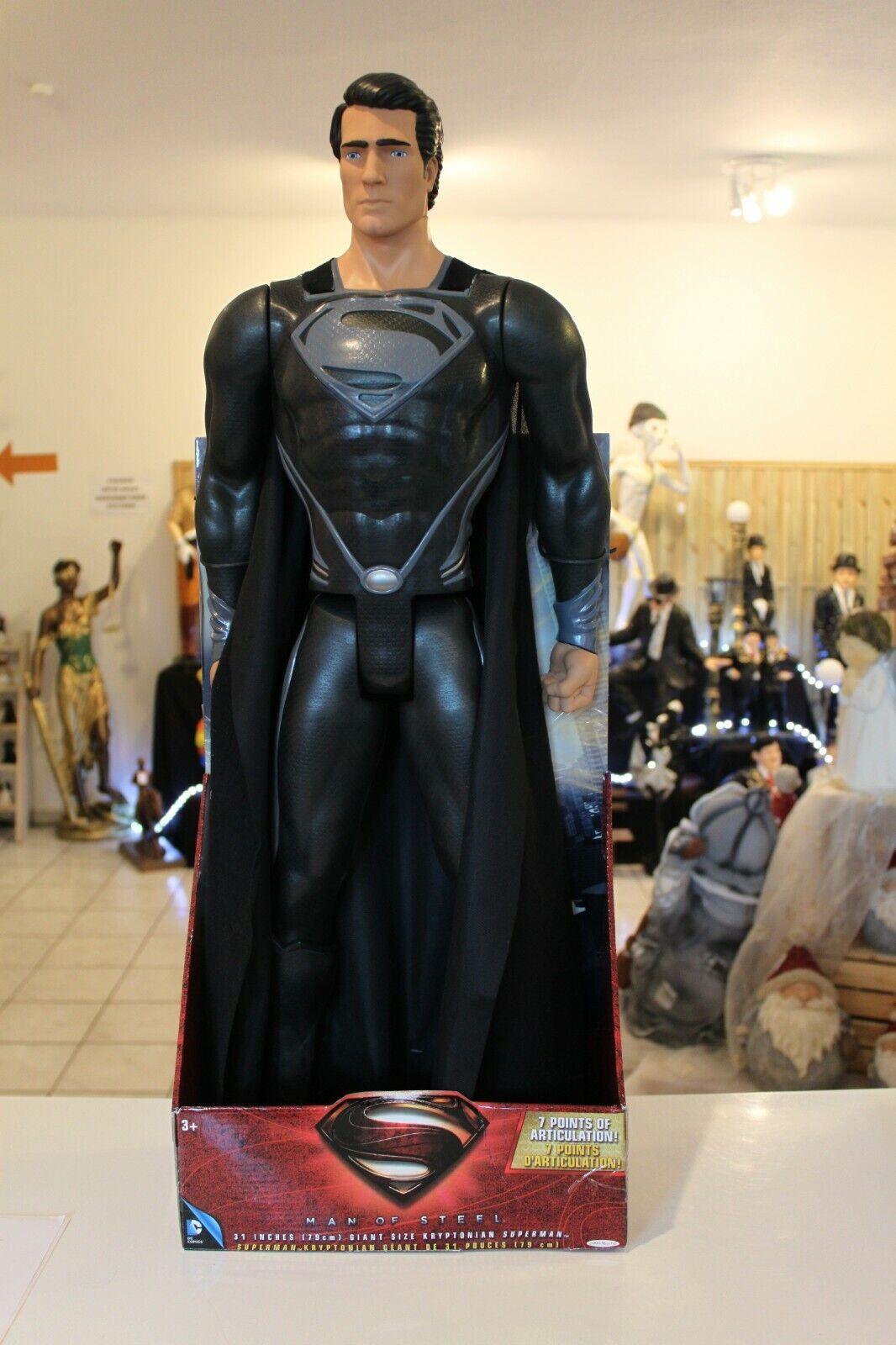 JAKKS PACIFIC SUPERMAN OF OF OF STEEL schwarz SUIT XXL ACTION FIGUR ca. 79 cm( ) -NEU- 85a27c