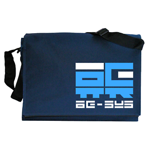 Wipeout AG Systems inspired Navy Blue Messenger Shoulder Bag
