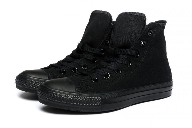 Converse Chuck Taylor Hi Top Black Mono Fashion Mens Womens Canvas shoes Sizes