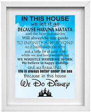 Hacemos Disney Foto Casa normas comillas Arte De Pared | Gratis Post | (np040)