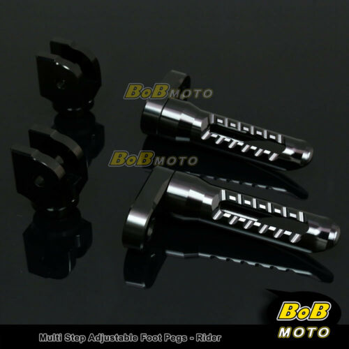 FOR Buell M2 Cyclone All year Multi Step Adjustable Front Foot Pegs