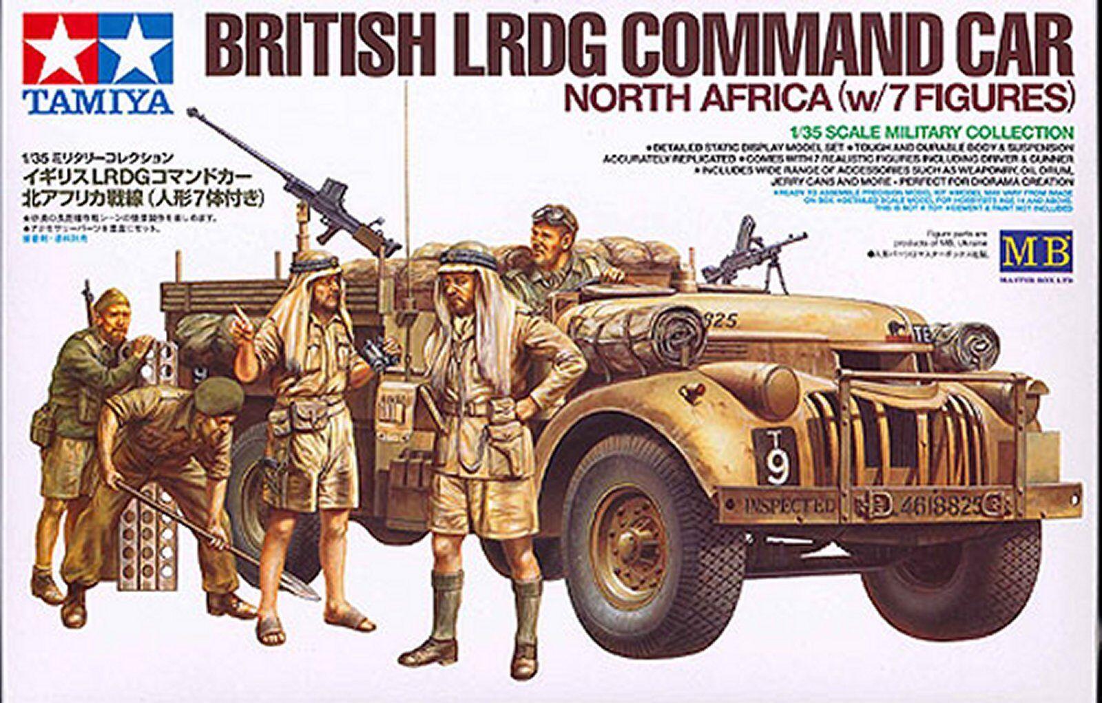 British LRDG Command Car + 7 Figures  ( 1 35 Tamiya )