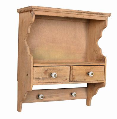 Küchenregal Wandregal Landhaus Hakenleiste Hängeregal Wandschrank Wandboard Holz