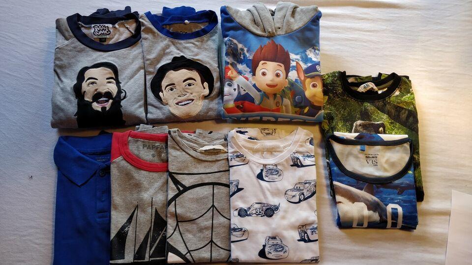 Blandet tøj, T-shirts, shorts