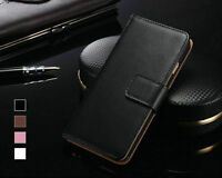 New Genuine Real Leather Wallet Flip Case Cover for New Apple iPhone 5s 6 6s 6+