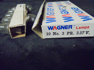 (7) (WAGNER) MINIATURE LAMP BULBS LAMPS #3PR 3.57V.