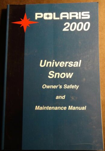 2000 POLARIS SNOWMOBILE UNIVERSAL OWNERSMAINTENANCE MANUAL NEW 951