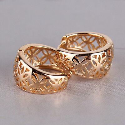 Valentine's gift 18K gold filled fantastic women engagement band hoop earring