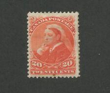Queen Victoria 1893 Canada 20c Stamp #46 Scott Value $425