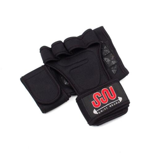 GYM Gants avec poignet Wraps De Soutien Pour Haltérophilie Exercice Fitness Palm