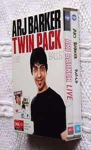 ARJ-BARKER-LIVE-BALLS-TWIN-PACK-DVD-2-DISC-BOX-SET-R-ALL-LIKE-NEW