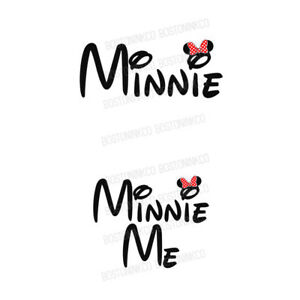abaeaa3f Minnie Minnie Me Mum Daughter Mouse Disney Style Iron On T-shirt ...