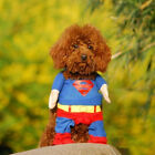 Pet Cat Dog Puppy Clothes Costumes Apparel T Shirt Superman Suit for Small DogGN