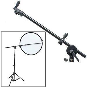"PRO Studio Photo Holder Bracket Swivel Head Reflector Arm Support 24""-66"""