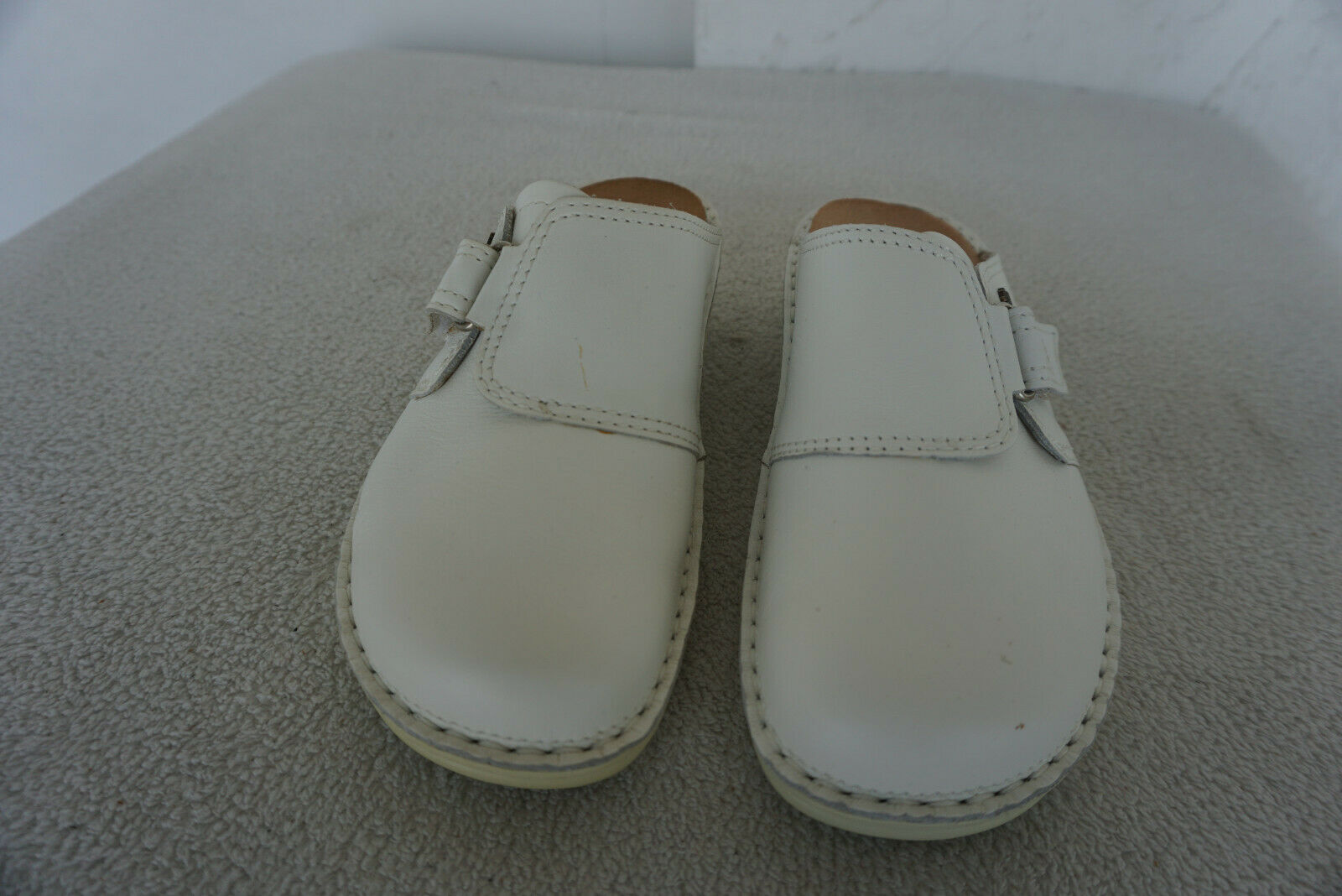 Finn Comfort Orb shoes Sandals Clogs with Insoles Size 3,5 36 White Leather New