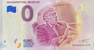 BILLET-0-EURO-NEANDERTHAL-MUSEUM-2-ALLEMAGNE-2018-NUMERO-2600