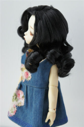 6-7inch 16-18CM Synthetic Mohair Hand Push Retro Lady Doll Wigs BJD Doll Hair