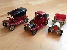 "3 MATCHBOX • Miniatur Oldimer Modelle (Made in England) • ""Models Of Yesteryear"""