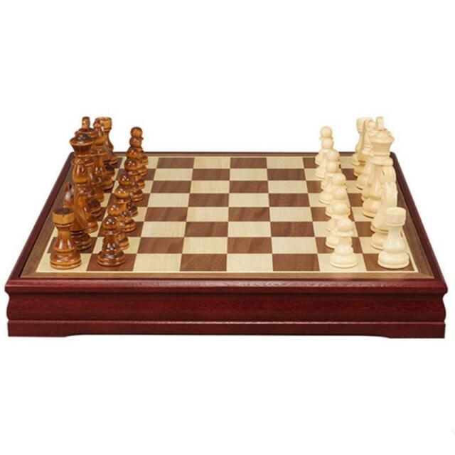Ordinaire Wood Professional Chess Board Checker Crafted Vintage Hand Game Folding  Case New