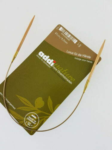 Addi nature 575-7 aproximadamente un truco de aguja de olivenholz 40 cm 3.0-9.0 mm