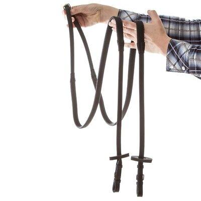Horseware Rambo Micklem Rubber Reins With Brass Raccordi-black-redini-mostra Il Titolo Originale Ricco E Magnifico