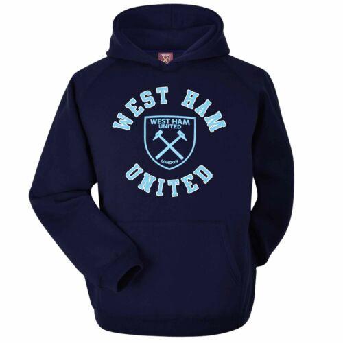 Adultes Unisexe Tailles S à 2XL Officiel West Ham United Football Crest à Capuche