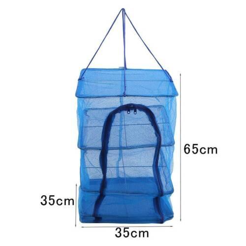 Durable 3 Tier Shelf Net Hydroponic Hanging Herb New Nylon Growing Dry Rack O3